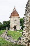 Romanesque rotunda in Skalica, Slovakia, cultural heritage stock photo