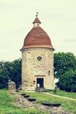 Romanesque rotunda in Skalica, Slovakia, retro photo filter Royalty Free Stock Photo