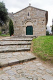 Romanesque Sao Miguel Chapel, near the Guimaraes Castle, where medieval knights are buried Royalty Free Stock Photo