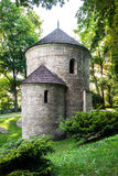 Romanesque St Nicholas Rotunda on Castle Hill in Cieszyn, Poland. One of the oldest romanesque monuments in Polish. stock image