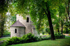 Romanesque St Nicholas Rotunda on Castle Hill in Cieszyn, Poland. One of the oldest romanesque monuments in Polish. Romanesque St Nicholas Rotunda on Castle Hill royalty free stock image