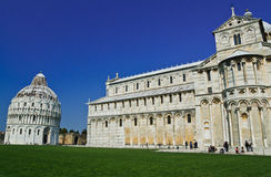 Romanesque style Baptistery Pisa, Stock Image