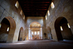 Romanesque-style church stock photography