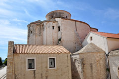 Romanesque style church. Zadar, Croatia Royalty Free Stock Photography