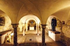 Romanesque Style Interior Of St. George`s Basilica Stock Photo