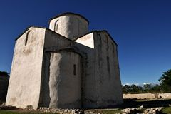 Romanesque style oldest church of Holy Cross in Nin, Croatia Stock Photo