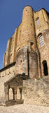 Romanesque tower and walls Stock Images