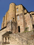 Romanesque tower and walls Royalty Free Stock Image
