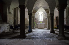 Romanesque under-croft Royalty Free Stock Photo