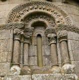 Romanesque window. Astureses church, Ourense, Galicia, Spain. XII century Royalty Free Stock Photos