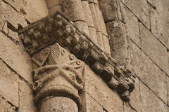 Romanesque window detail Royalty Free Stock Photos