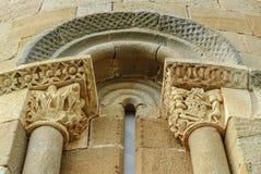 Romanesque window Stock Images
