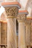 Romanesquepfosten, 12. Jahrhundert Stockfoto