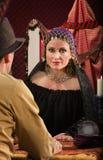 Romani kvinna med mannen Royaltyfri Foto