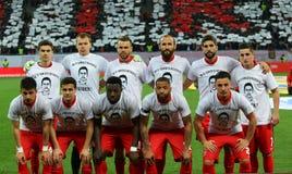 Romania's-Pokalspiel: Dinamo Bucuresti gegen CFR Klausenburg Stockfotos