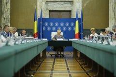 Romania'seerste minister Viorica Dancila royalty-vrije stock foto