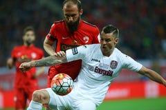 """ROMANIA'Skop DEFINITIEVE †""""DINAMO BUCURESTI versus CFR Cluj Royalty-vrije Stock Foto's"""