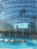 Water pool spa therme bucharest. Romania aqua magic stock photography