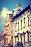 Romania - Arad. Arad, town in Crisana region of Romania. Old residential architecture. Cross processing color tone - filtered retro style Royalty Free Stock Images