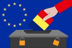 Romania ballot box for the European elections. A Romania ballot box for the European elections vector illustration