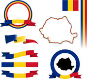 Romania Banner Set. Stock Image
