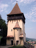 Romania, Biertan. Summer in Romania, Biertan.  Fortified church. Tower Royalty Free Stock Images