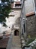 Romania. Bran. Castle. Go upstairs Royalty Free Stock Images