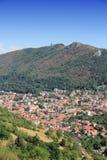 Brasov aerial view. Romania - Brasov aerial view. Old Town in Transylvania Stock Photo