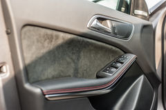 Romania, Brasov Sept 16, 2014: Mercedes-Benz A 45 2014 AMG interior Royalty Free Stock Image
