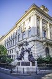 ROMANIA Bucharest - SEPTEMBER 27, 2015 - Famous building of National Bank of Romania, SEPTEMBER 27, 2015 stock image