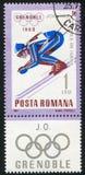 Slalom. ROMANIA - CIRCA 1967: stamp printed by Romania, show slalom, circa 1967 Stock Photography