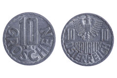 Romania coins macro Stock Photos