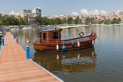 Old And Restored Wooden Boat Old And Restored Wooden Boat Royalty Free Stock Photography