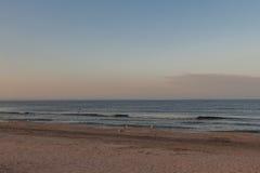 Sunset over Black Sea, Mamaia beach, Romania Stock Image