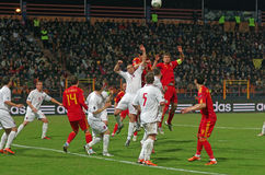 Romania contra Luxembourg Imagem de Stock