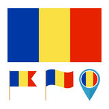 Romania, country flag  Royalty Free Stock Photo