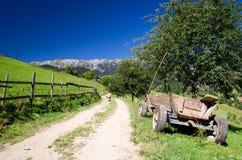 Romania, Country life. Winding road in Piatra Craiului Mountains, Romania Stock Photo