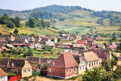 Romania countryside. Biertan village in Transylvania region Royalty Free Stock Photo
