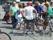 Romania Cycling Tour Royalty Free Stock Images