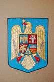 Romania Emblem. Emblem of Romania on the seat in the Permanent Court of Arbitration at The Hague, Netherlands Stock Photo