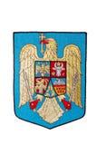 Romania Emblem isolated on white stock photography