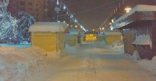 Romania extreme heavy snow stock photography