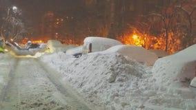Romania extreme heavy snow stock photos