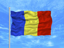 Romania Flag 1 Stock Photography
