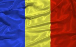 Romania Flag 3 Royalty Free Stock Photo