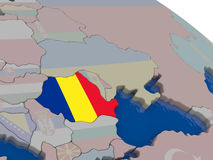 Romania with flag Royalty Free Stock Photography