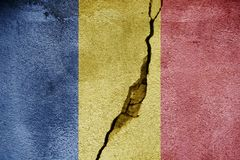 Romania   FLAG PAINTED ON CRACKED WALL cool. Romania   FLAG PAINTED ON CRACKED WALL Royalty Free Stock Photo