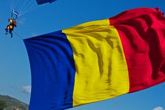 Romania flag Royalty Free Stock Photos
