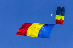 Romania flag Royalty Free Stock Photography