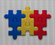 Romania flag of puzzles Royalty Free Stock Photo